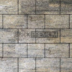 Тротуарная плитка Brick Premium Квадро Оникс гладкая 65 мм