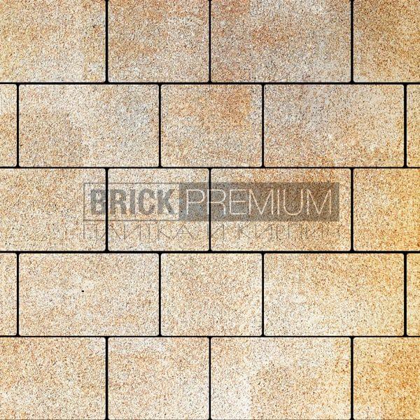 Тротуарная плитка Brick Premium Квадро Песчанник гранит 65 мм