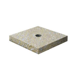 Ландшафтный элемент ВЫБОР ПОДСТАВКА-1 700*700*100 Медовый Мытый бетон
