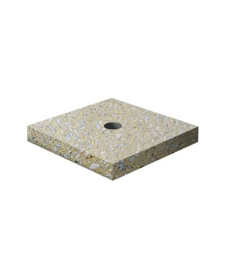 Ландшафтный элемент ВЫБОР ПОДСТАВКА-2 500*500*100 Медовый Мытый бетон