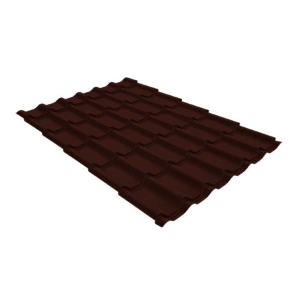 Металлочерепица Grand Line классик 0,4 Полиэстер шоколад