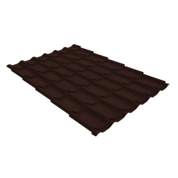 Металлочерепица Grand Line классик 0,45 drap шоколад
