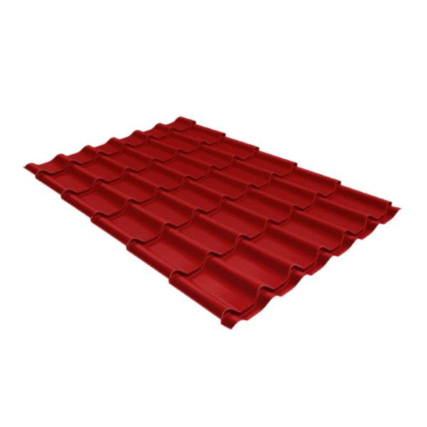 Металлочерепица Grand Line классик 0,45 drap коричнево-красный