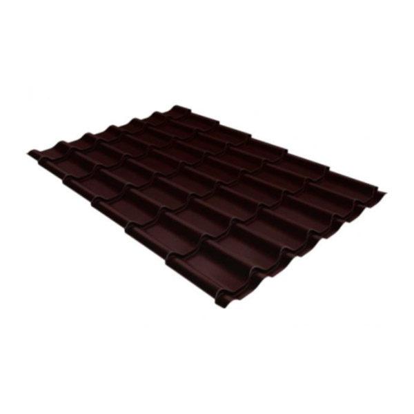 Металлочерепица Grand Line классик 0,45 Полиэстер Шоколад DRIP
