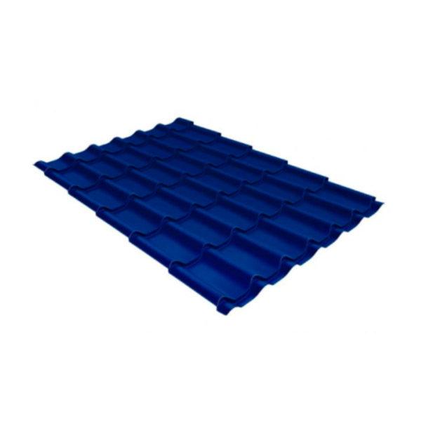 Металлочерепица Grand Line классик 0,45 Полиэстер сигнальный синий