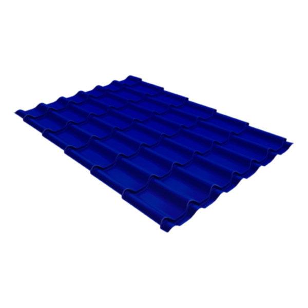 Металлочерепица Grand Line классик 0,45 Полиэстер ультрамариново-синий