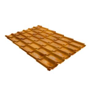 Металлочерепица Grand Line классик 0,45 Print Twincolor РФ Golden Wood
