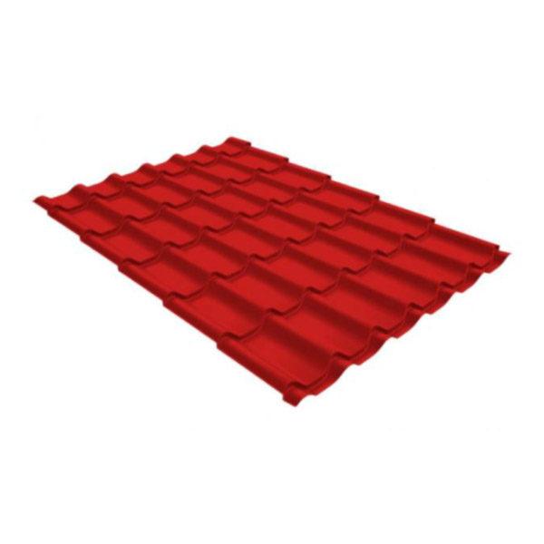 Металлочерепица Grand Line классик 0,5 GreenCoat Pural Matt красный