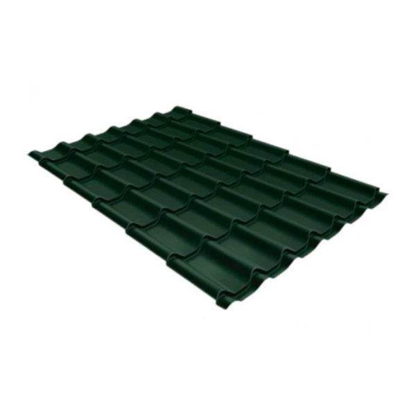 Металлочерепица Grand Line классик 0,5 GreenCoat Pural Matt тёмно-зелёный