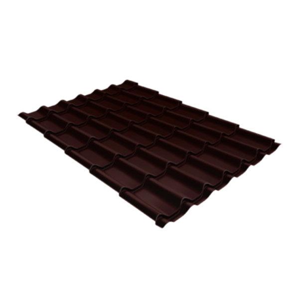 Металлочерепица Grand Line классик 0,5 Quarzit шоколад Metallic