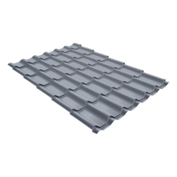 Металлочерепица Grand Line классик 0,5 Satin Бело-алюминиевый