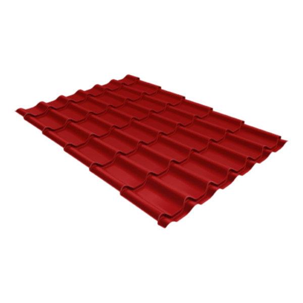 Металлочерепица Grand Line классик 0,5 Satin коричнево-красный