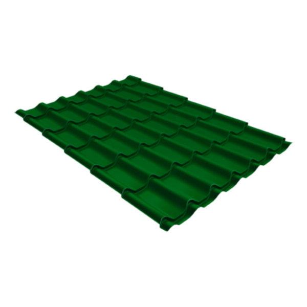 Металлочерепица Grand Line классик 0,5 Satin лиственно-зелёный