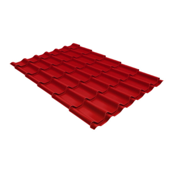 Металлочерепица Grand Line классик 0,5 Satin Рубиново-красный