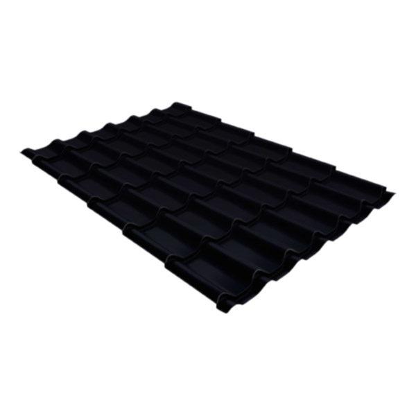 Металлочерепица Grand Line классик 0,5 Стальной бархат черный
