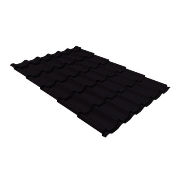 Металлочерепица Grand Line классик 0,5 Velur20 черно-коричневый