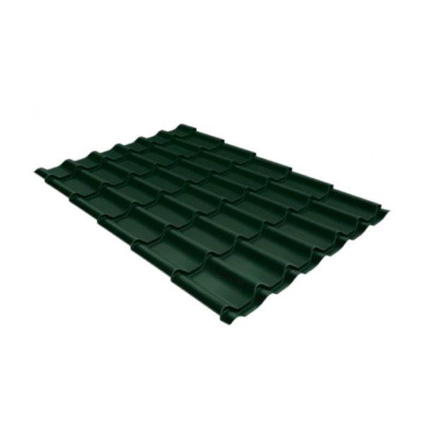 Металлочерепица Grand Line классик 0,5 Velur20 хромовая зелень