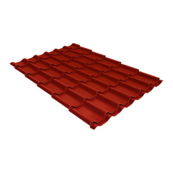 Металлочерепица Grand Line классик 0,5 Velur20 оксидно-красный