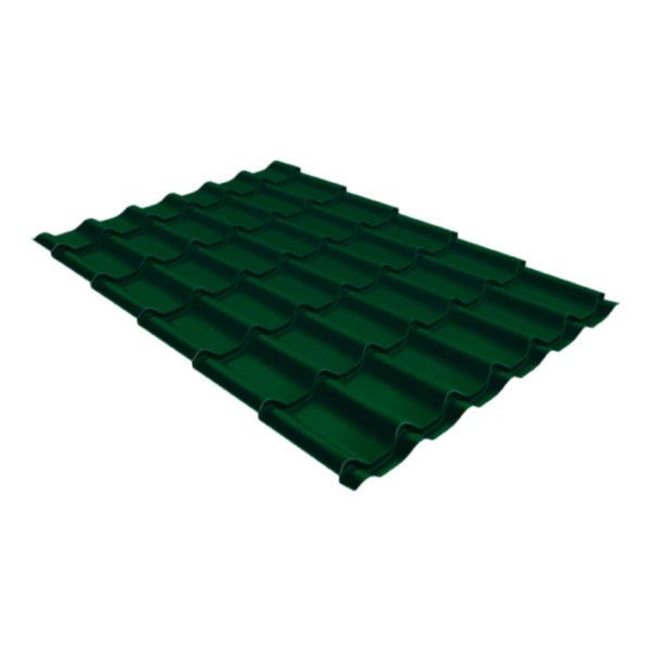 Металлочерепица Grand Line классик 0,5 Velur20 зелёный мох