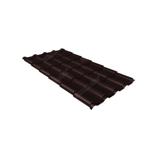 камея 0,5 Satin RAL 8017 шоколад