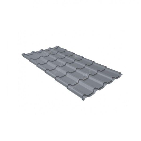 камея 0,5 Satin RAL 9006 бело-алюминиевый