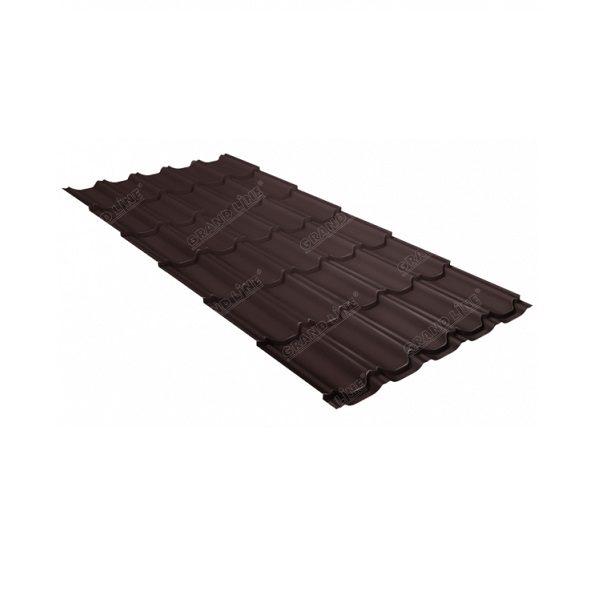 квинта плюс 0,5 Quarzit RAL 8017 шоколад Metallic