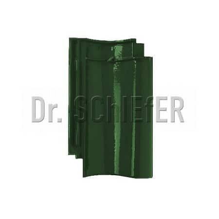 Керамическая рядовая черепица Meyer-Holsen Vario Hohlfalzziegel маркато темно-зеленый