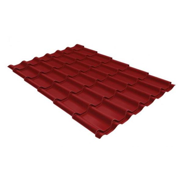 Металлочерепица Grand Line модерн 0.4 PE RAL 3011 коричнево-красный