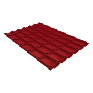 Металлочерепица Grand Line модерн 0,45 PE RAL 3003 рубиново-красный
