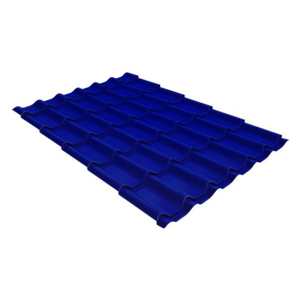 Металлочерепица Grand Line модерн 0,45 PE RAL 5002 ультрамариново-синий