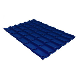 Металлочерепица Grand Line модерн 0,45 PE RAL 5005 сигнальный синий