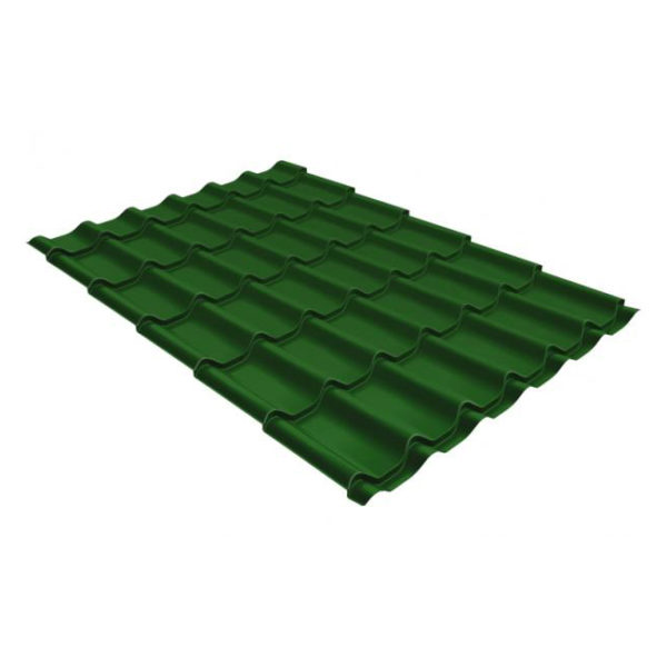 Металлочерепица Grand Line модерн 0,45 PE RAL 6002 лиственно-зеленый
