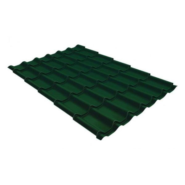 Металлочерепица Grand Line модерн 0,45 PE RAL 6005 зеленый мох