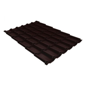 Металлочерепица Grand Line модерн 0,45 PE RAL 8017 шоколад