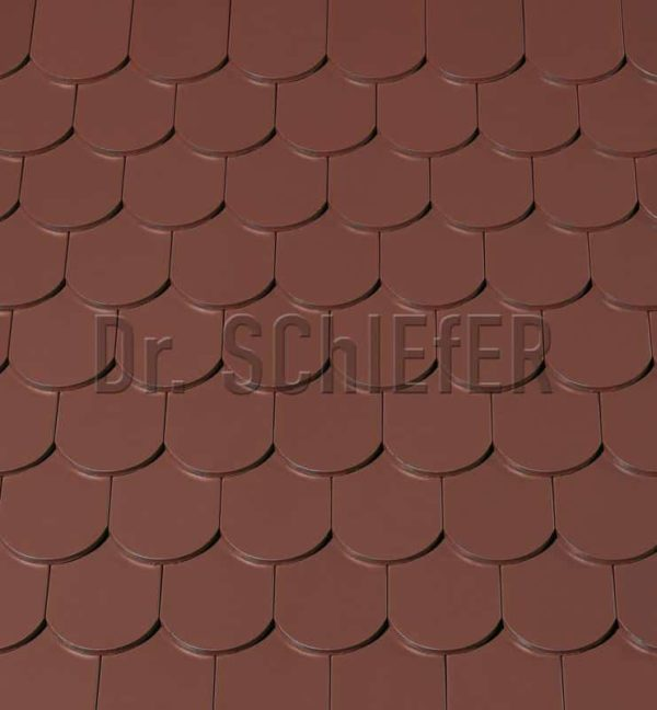 Керамическая рядовая черепица Creaton Biber-classic Nuance коричневый