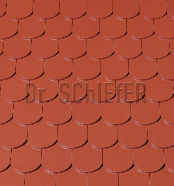 Керамическая рядовая черепица Creaton Biber-classic Nuance медно-красный