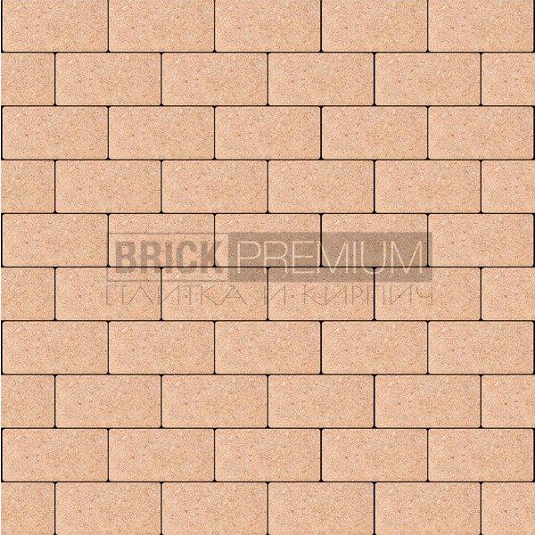 Тротуарная плитка Brick Premium Платцстоун Оранжевый гладкая 65 мм