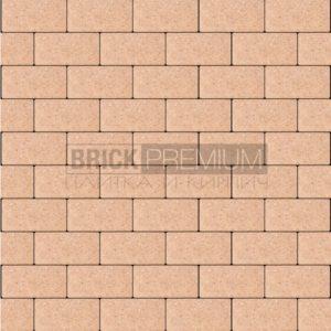 Тротуарная плитка Brick Premium Платцстоун Оранжевый гладкая 45 мм