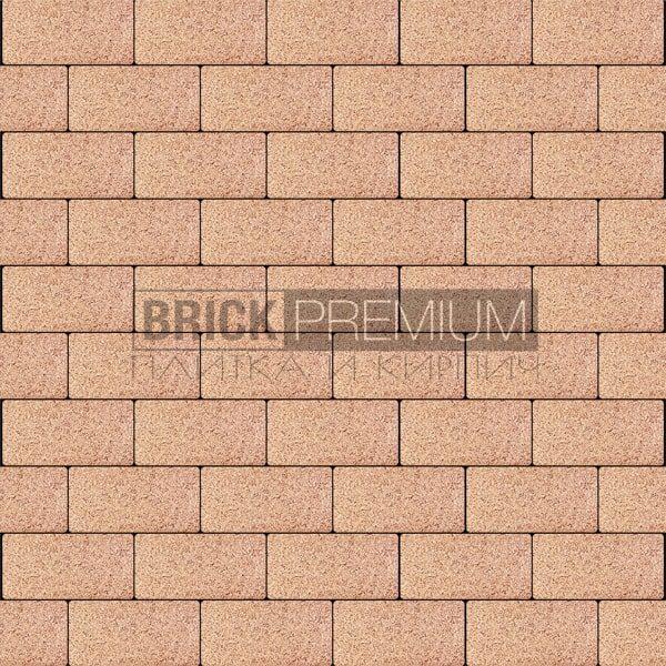 Тротуарная плитка Brick Premium Платцстоун Оранжевый гранит 65 мм