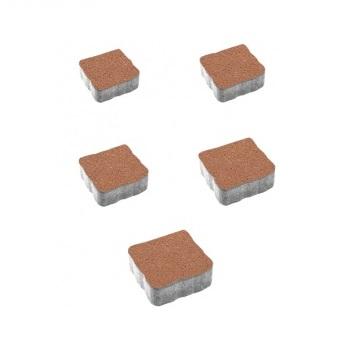 Тротуарные плиты ВЫБОР Гранит АНТИК А.3.А.4 Оранжевый - комплект из 5 плит
