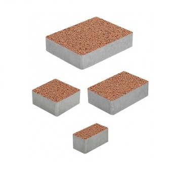 Тротуарные плиты ВЫБОР Стандарт МЮНХЕН Б.2.Фсм.6 Оранжевый- комплект из 4 плит