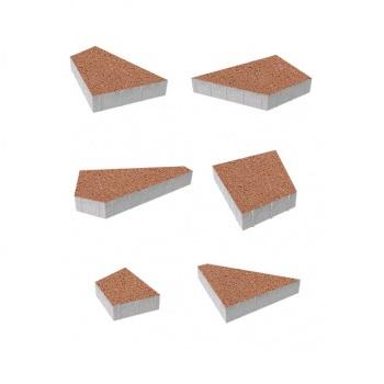 Тротуарные плиты ВЫБОР Стандарт ОРИГАМИ Б.4.Фсм.8 Оранжевый- комплект из 6 плит