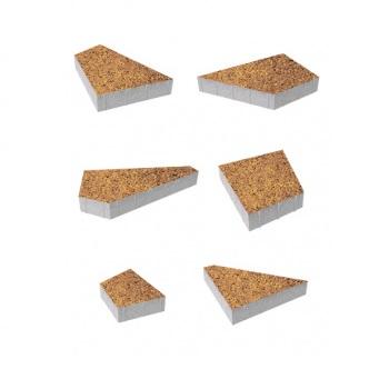 Тротуарные плиты ВЫБОР Листопад гладкий ОРИГАМИ Б.4.Фсм.8 Осень- комплект из 6 плит