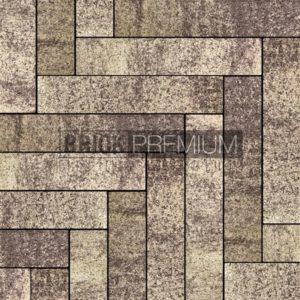 Тротуарная плитка Brick Premium Паркет Алькантара гранит 65 мм