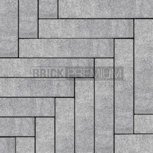 Тротуарная плитка Brick Premium Паркет Базальт гранит 65 мм