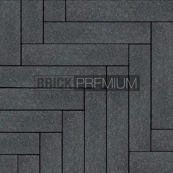 Тротуарная плитка Brick Premium Паркет Чёрный мирра 65 мм