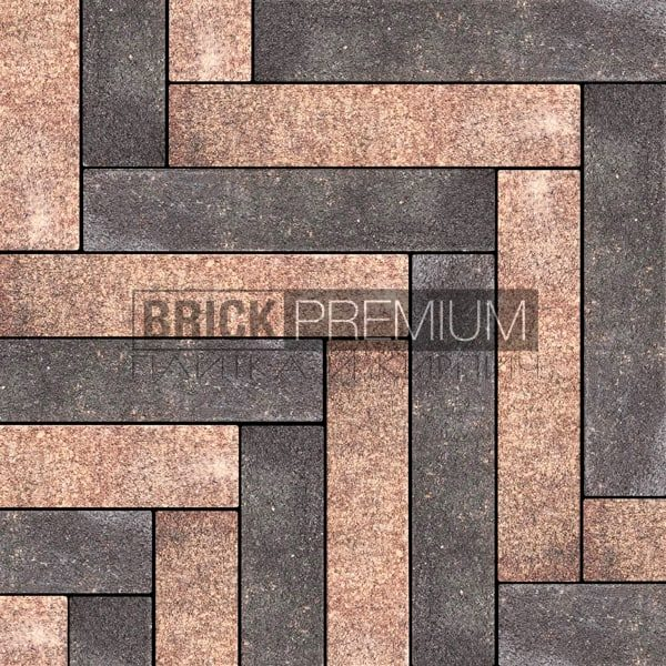 Тротуарная плитка Brick Premium Паркет Клинкер гранит 65 мм