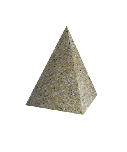 Ландшафтный элемент ВЫБОР ПИРАМИДА Медовый Мытый бетон