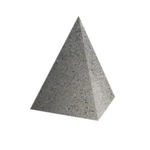 Ландшафтный элемент ВЫБОР ПИРАМИДА Серый Мозаичный бетон