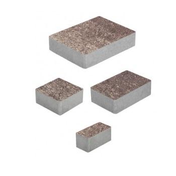 Тротуарные плиты ВЫБОР Искусственный камень МЮНХЕН Б.2.Фсм.6 Плитняк- комплект из 4 плит